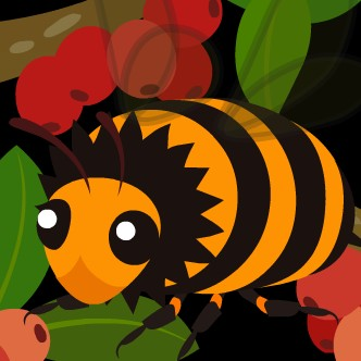 拡大したミツバチさん(怖)